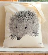 Bird Hedgehog Print Tote Bag
