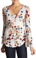 William Rast Wilder Grace Floral Bell Sleeve Blouse