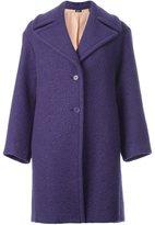Jil Sander Navy broad lapels buttoned coat
