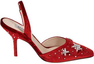 ATTICO The Rhinestone Embroidered Pumps