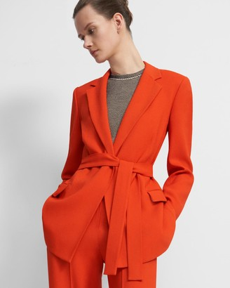 Theory Belted Blazer in Eco Rosina Crepe