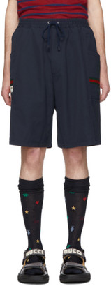 Gucci Blue Canvas Swim Shorts