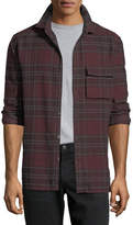 Joe's Jeans Bellowed Plaid Herringbone Shirt