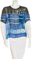 Raquel Allegra Silk Dip Dyed Top