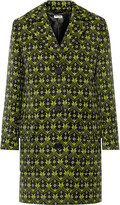 Miu Miu Printed wool-gabardine coat