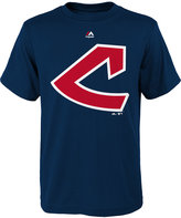 Majestic Boys' Cleveland Indians Coop Official Logo T-Shirt
