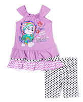 Children's Apparel Network PAW Patrol Purple Dress & Shorts - Toddler