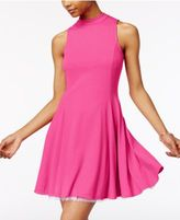 The Edit By Seventeen Juniors' Mock-Neck Fit & Flare Dress, Only at Macy's
