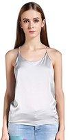 Colyanda Women's Sexy Round Neck Silk Camisole Tank Top (,S)