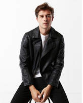 Express Minus the) leather quilted asymmetrical moto jacket