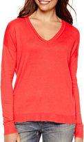 A.N.A a.n.a Long-Sleeve V-Neck High-Low Sweater