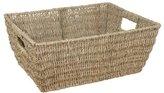 JVL Rectangular Seagrass Storage Basket, 37.5 x 28.5 x 15.5 cm