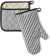 Williams-Sonoma Williams Sonoma Bay Stripe Mitt & Potholder Set, Black