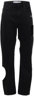 Off-White Cutouts Denim Straight Jeans