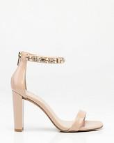 Le Château Embellished Patent Ankle Strap Sandal