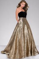 Jovani Strapless Velvet Bodice Prom Ballgown 47982