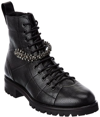 Jimmy Choo Cruz Leather Combat Boot
