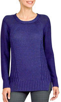 Haggar Petite Petite Long Sleeve Knit Sweater