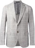 Eleventy checked blazer - men - Linen/Flax/Polyamide/Cupro - 46
