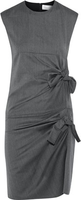 Victoria Victoria Beckham Knotted Herringbone Wool Mini Dress