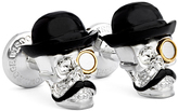 Robert Graham Mustache & Monocle Skeleton Cuff Links