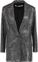 McQ by Alexander McQueen Metallic-coated sequined tulle blazer