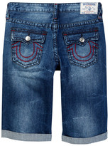True Religion Straight Fit Frayed Short (Big Boys)