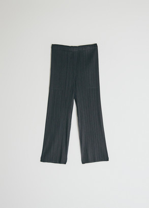 Pleats Please Issey Miyake Women's Cropped Basics Pant in Black, Size 2