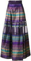Alberta Ferretti flared striped skirt - women - Silk - 40