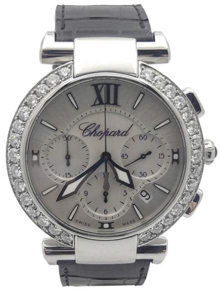 Chopard Imperiale 388549-3001 Stainless Steel & Leather wDiamond Automatic 40mm Womens Watch