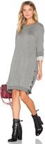 Bella Dahl Lace Up Sweatshirt Dress