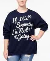 Hybrid Trendy Plus Size Snowing Graphic Sweatshirt