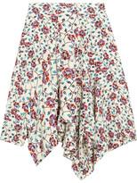 Isabel Marant Rachel Asymmetric Floral-print Silk Skirt - Ecru
