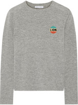 Bella Freud Lion Intarsia Wool And Cashmere-blend Sweater - Gray
