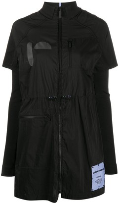 McQ Arcade layered shirt dress
