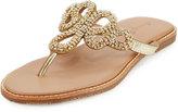 Tommy Bahama Yohkoh Crystal Thong Sandal, Gold