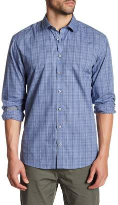 Lindbergh Plaid Dotted Long Sleeve Regular Fit Shirt