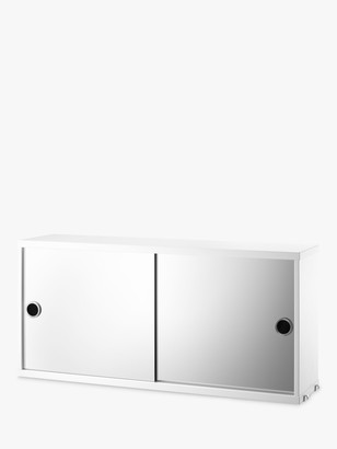 string Double Mirrored Bathroom Cabinet, White