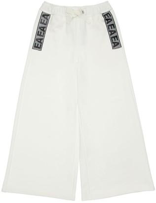 Emporio Armani Cotton Wide Leg Sweatpants