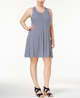 Style&Co. Style & Co. Plus Size Striped Sleeveless Swing Dress, Created for Macy's