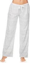 Kathy Ireland Women's Sleep Bottoms LGRY - Light Gray Fair Isle Fleece Pajama Pants - Women
