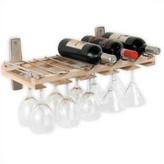 J.K. Adams 5 Bottle Wall Mounted Wine Rack
