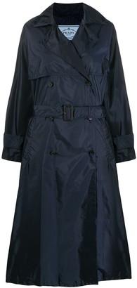 Prada Flared Mid-Length Trench Coat