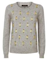 Jaeger Wool-Blend Embellished Sweater