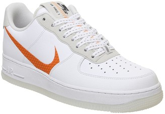 Nike Force 1 07 Trainers White Total Orange Summit White