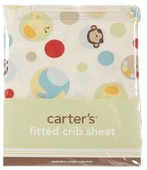 """Carter's Peek-a-Boo Jungle"""" Fitted Crib Sheet - colors as shown, one"""