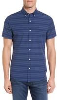 Bonobos Men's Slim Fit Short Sleeve Stripe Sport Shirt