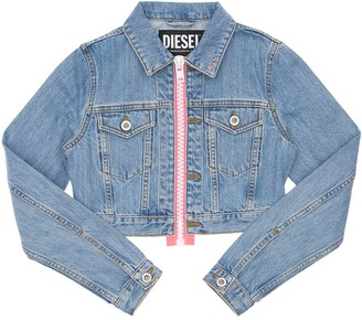 Diesel Cropped Cotton Denim Jacket