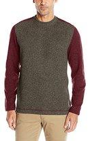 Arrow Men's Long Sleeve Colorblocked Sweater Fleece