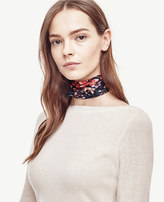 Ann Taylor Winter Geranium Silk Little Scarf